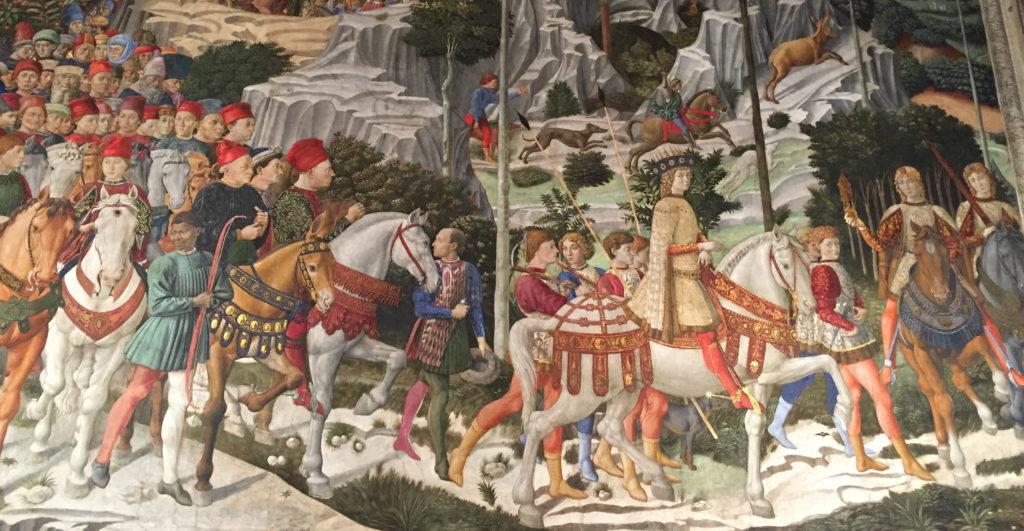 From Journey of the Magi to Bethlehem, Benozzo Gozzoli, 1460.